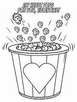 Coloring Pages Printable Valentine Popcorn Valentines Slime Heart National Birthday Printables Craftymorning Pops Popping Month Activities Getcolorings Night Valen sketch template