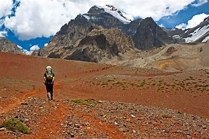 Aconcagua Mountain America South Highest Melo Climb