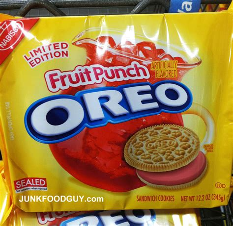Review: Fruit Punch Oreos (Limited Edition) | Junk Food ...