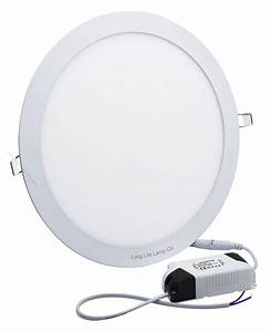 24w Led Recessed Ceiling Panel Round Ultra Slim Flat Down