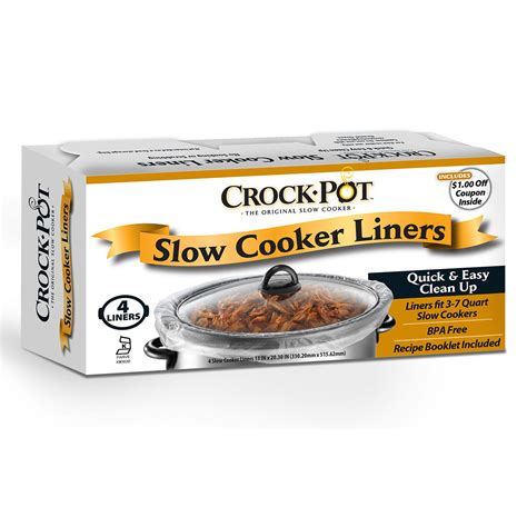 crock pot liners slow cooker crockpot insert cooking cookers recipes any accessories without casserole cook