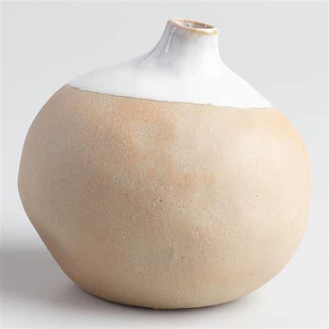 World Market Vases - mini reactive glaze dipped vase set of 2 world market
