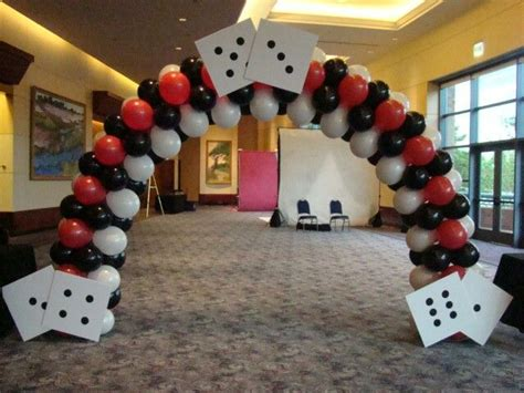 dekoartikel las vegas balloon arch casino theme by www atlantaevents biz deko