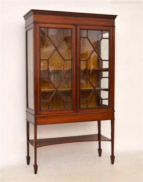 mahogany display cabinet antique edwardian inlaid mahogany display cabinet 3954