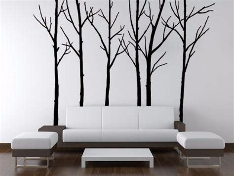 Winter Trees Black Wall Stickers.