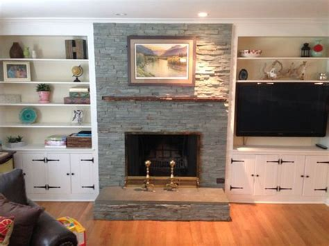 hand crafted  edge slab fireplace mantle  mad