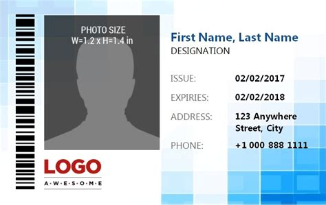 id badge template excel  word templates