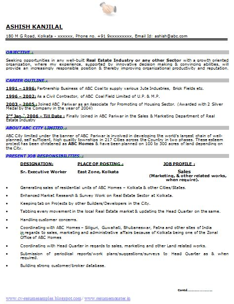 sample resume  zonal sales manager restaurant market