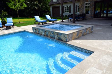 glass tile swimming pool waterline traditional pool