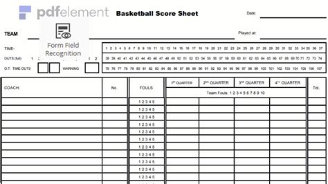 basketball score sheet   create edit fill