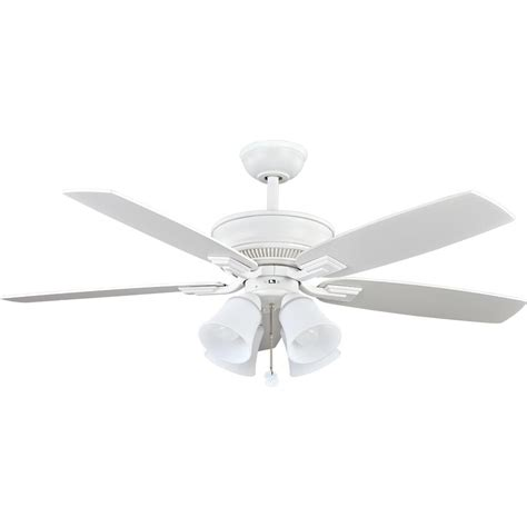 White Ceiling Fans With Lights by Hton Bay Mercer 52 In Indoor White Ceiling Fan With