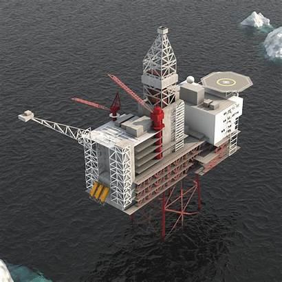 Platform Offshore Oil 3d Vr Models Ar