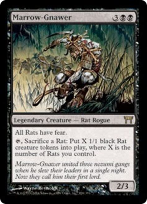 best relentless rats deck marrow gnawer chions of kamigawa gatherer magic