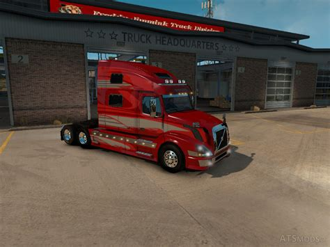 red volvo truck volvo vnl 780 red fantasy skin for vnl truck shop