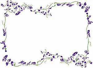 Image Gallery lavender border clip art
