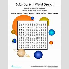 Solar System Word Search  Worksheet Educationcom