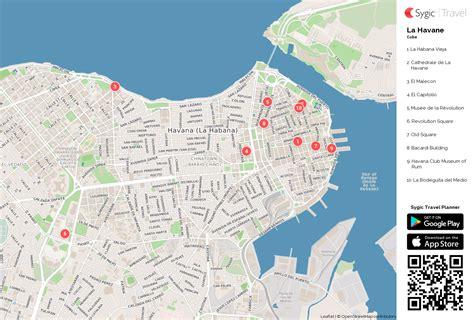 Carte De Touristique à Imprimer by La Havane Carte Touristique Imprimable Sygic Travel