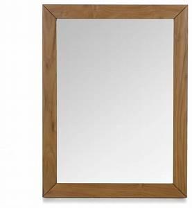 Alinea Miroir Salle De Bain : antigua miroir en teck 80cm exotique miroir de salle ~ Teatrodelosmanantiales.com Idées de Décoration