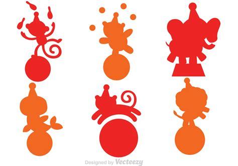 clipart vectors animal circus silhouette vectors free vector