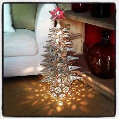 lighted punched tin star christmas tree  marbles