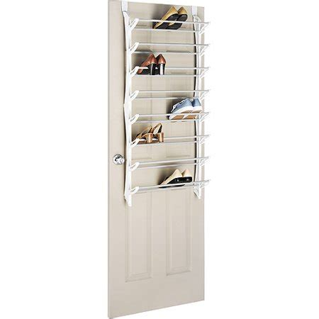 walmart shoe rack whitmor 24 pair the door shoe rack white