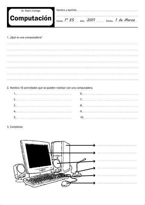 informatica para el prescolar fichas de trabajo cuadernillo 40 actividades eduaci 243 n