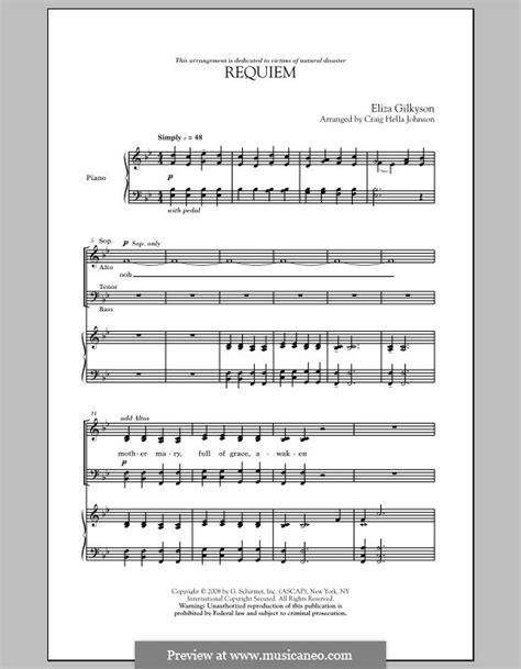 requiem by c h johnson e gilkyson sheet music on