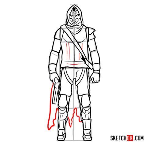 draw cayde  destiny step  step drawing tutorials