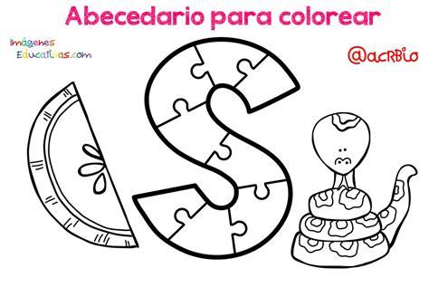 Abecedario para colorear (20) Imagenes Educativas