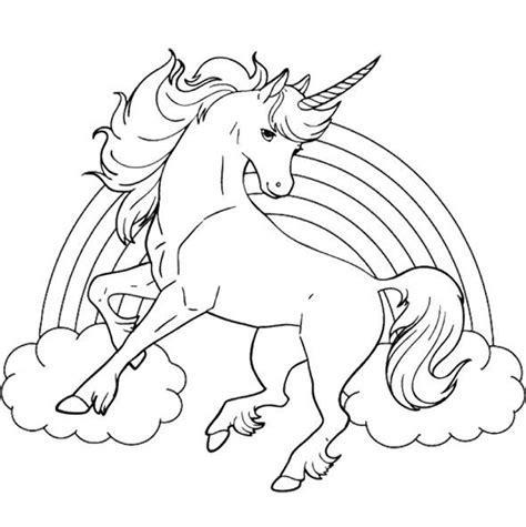 coloriage arc en ciel  licorne dessin gratuit  imprimer