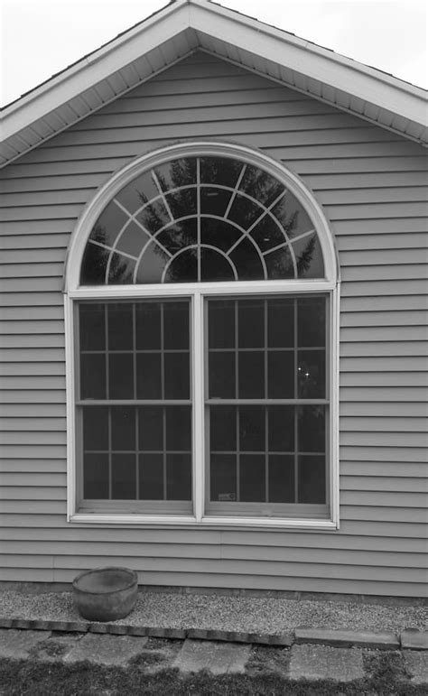 vinyl arch top window replacement brightens  bedroom pella windows  dayton