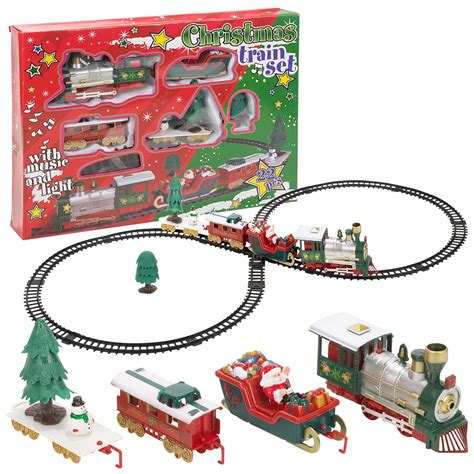 christmas musical train track toys set kids party
