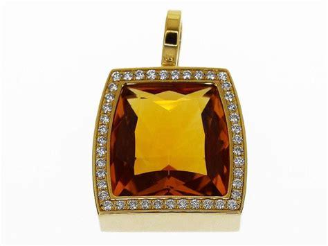 cartier diamond citrine  karat yellow gold la dona xl