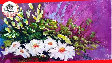 How To Paint Flowers With Acrylics Step By Step