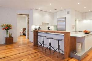 Bar Rangement Cuisine : bar de cuisine cuisine bois moderne meubles rangement ~ Teatrodelosmanantiales.com Idées de Décoration