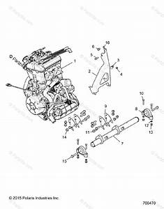 Polaris Side By Side 2016 Oem Parts Diagram For Engine Mounting