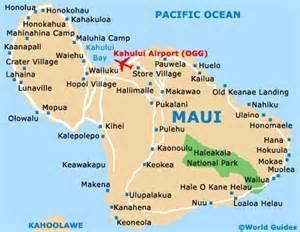 Maui Hawaii Cities Map