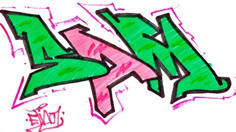 step  step   draw graffiti letters write sam