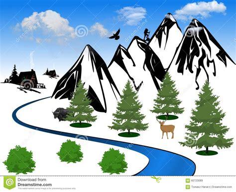 mountain clipart mountain valley clip cliparts