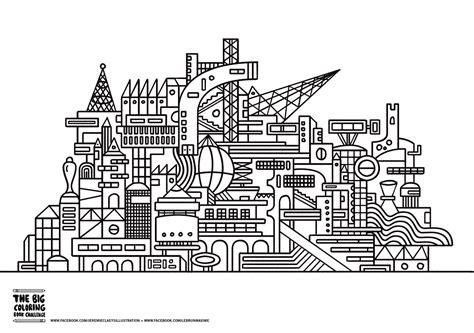 Coloring Ville by Architecture Et Habitation Coloriages Difficiles Pour