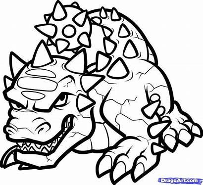 Coloring Skylanders Draw Pages Drawing Skylander Characters
