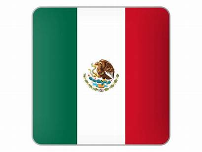 Mexico Square Icon Flag Curricula Clientes Commercial
