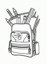 Coloring Pages Printable Bag Educational Drawing Colouring Supplies Sheets Drawings Printables Wuppsy Getdrawings Students Teens Tags sketch template