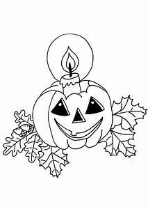 Citrouille Halloween Dessin : coloriage halloween citrouille bougie sur hugolescargot ~ Melissatoandfro.com Idées de Décoration