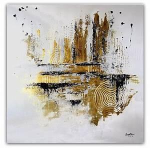 Moderne Bilder Mit Rahmen : burgstaller abstrakte malerei original gem lde 100x100 moderne kunst silber gold ebay ~ Indierocktalk.com Haus und Dekorationen