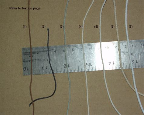 Boatswain Lines by Line Size Comparison Belfast Cord