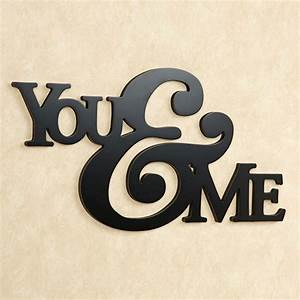 you and me word wall art With wall word art