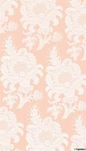 Pink/very light peach paisley wallpaper | Cuptakes ...