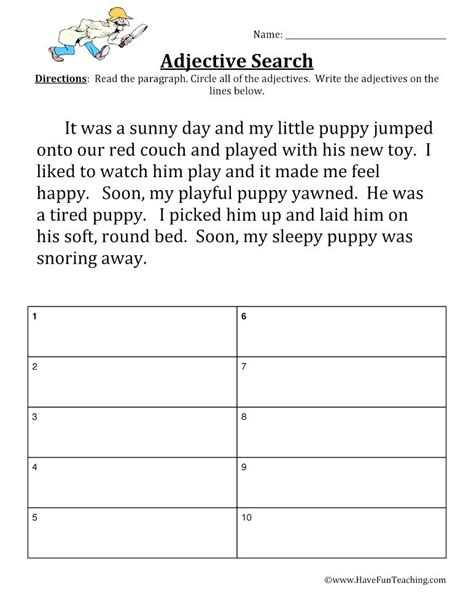 Modifiers Adverbs And Adjectives Diagramming Answers Sentences Worksheets Adjective Order