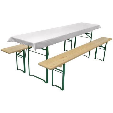 Tischdecke für Biertischgarnitur 70x240cm weiß